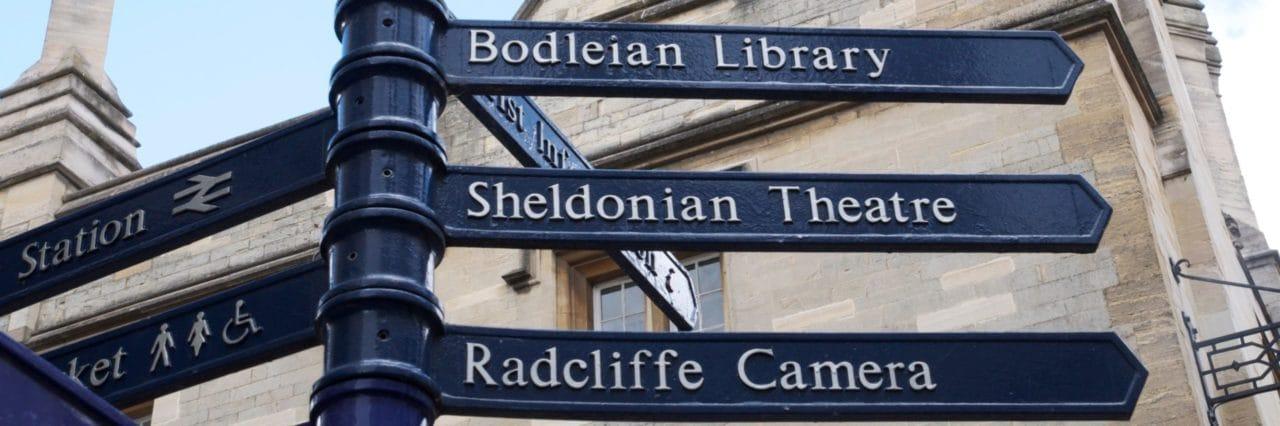 Scio Study Abroad Oxford Sign Directions