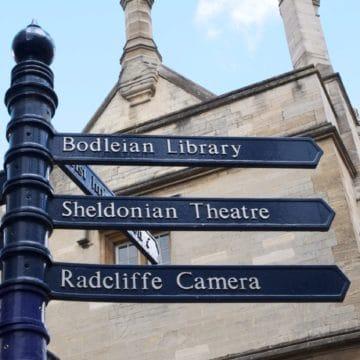 Scio Study Abroad Oxford Sign Directions Square