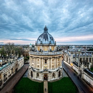 Radcliffe Camera Blue Cloud Construction Edit