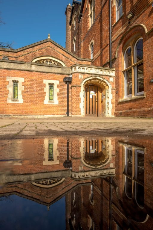 Scio Study Abroad Wycliffe Hall North Wing Reflection